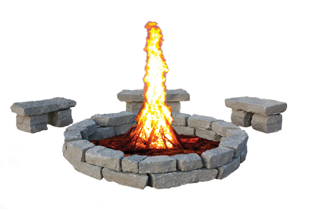 Large Fire Pit 3 Pc Bench Kits